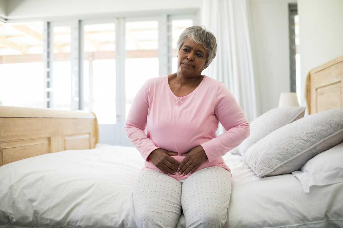 Senior Woman Stomach Cramps