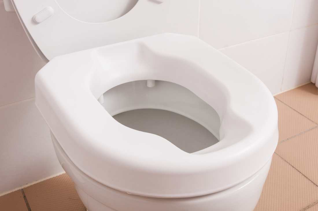 Raised Toilet Seat From Front